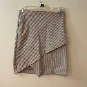 DYNAMITE - Plaid Front Slit Skirt